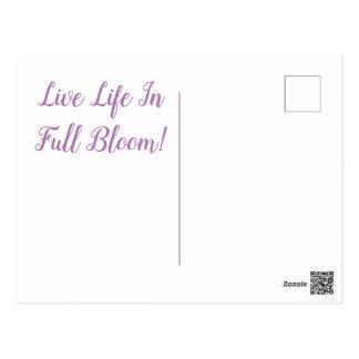 Cartão Postal Flor-Cartão do Lilac