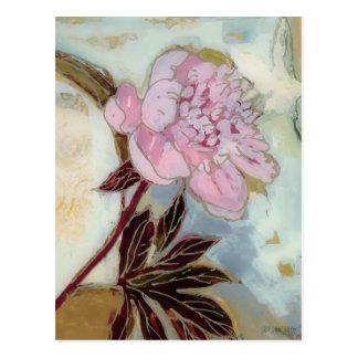 Cartão Postal Flor cor-de-rosa da peônia
