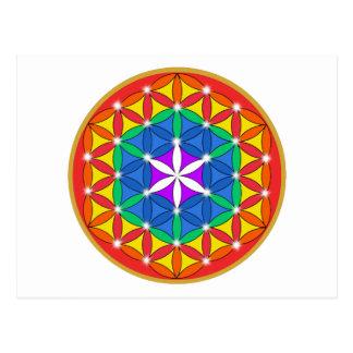 Cartão Postal Flor da faísca de Chakra da vida