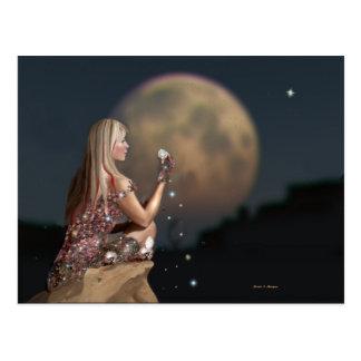 Cartão Postal Flor da lua
