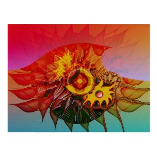 Cartão Postal Flor da onda