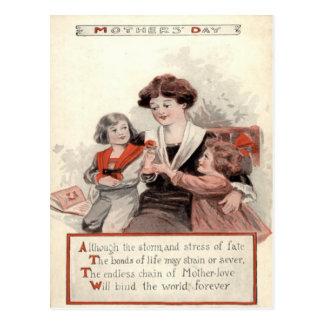 Cartão Postal Flor das crianças da mãe
