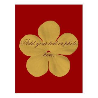 Cartão Postal Flor do ouro do vintage