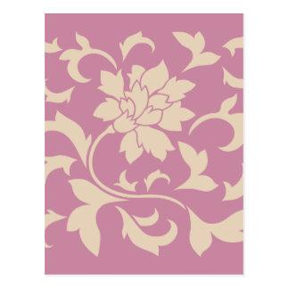 Cartão Postal Flor oriental - café Latte & morango