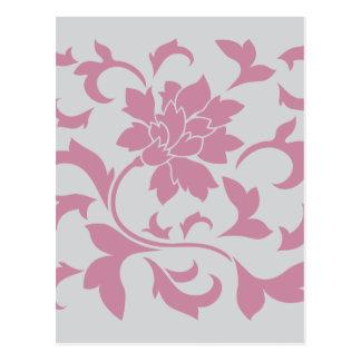 Cartão Postal Flor oriental - morango de prata