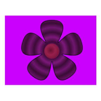 Cartão Postal flor roxa