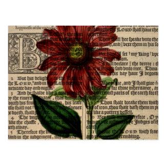 Cartão Postal Flor roxa de Coneflower