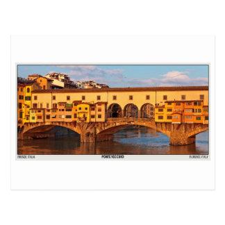 Cartão Postal Florença - Ponte Vecchio