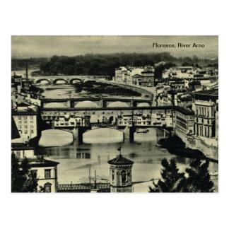 Cartão Postal Florença, River Arno