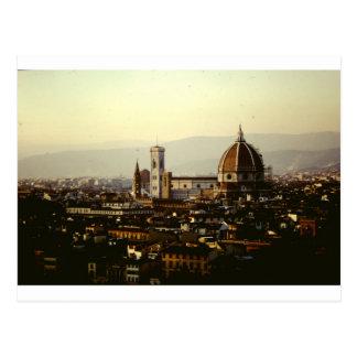 Cartão Postal Florença - uma vista em toda a cidade ao domo
