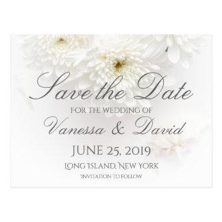 Cartão Postal Flores brancas