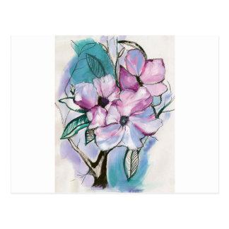 Cartão Postal Flores cobertas