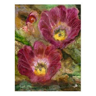 Cartão Postal Flores cor-de-rosa do deserto da arizona