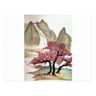 Cartão Postal Flores de cerejeira