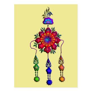 Cartão Postal flores de suspensão coloridas