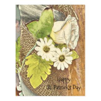 Cartão Postal Flores do dia de St Patrick feliz