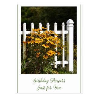 Cartão Postal Flores do feliz aniversario apenas para você