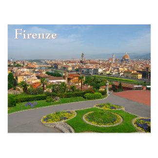 Cartão Postal Flores do primavera em Florença