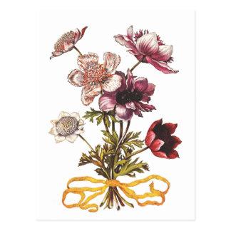 Cartão Postal Flores do vintage