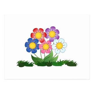 Cartão Postal flores e pintura