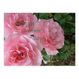 Cartão Postal Flores felizes do dia das mães
