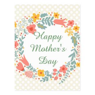 Cartão Postal Flores felizes do primavera do dia das mães