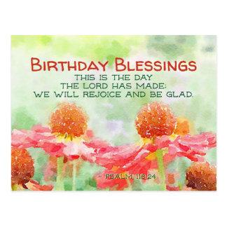 Cartão Postal Flores inspiradas do 118:24 do salmo do