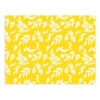 Cartão Postal Flores no amarelo do mel
