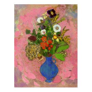 Cartão Postal Flores, Odilon Redon 1905 pinturas florais