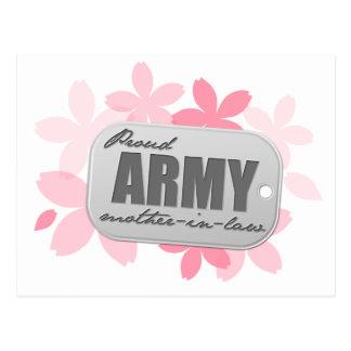 Cartão Postal Flores orgulhosas da sogra do exército