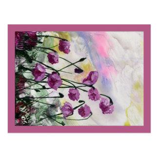 Cartão Postal Flores roxas