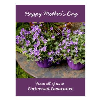 Cartão Postal Flores roxas pequenas