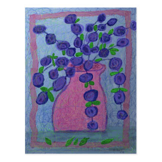 Cartão Postal Flores roxas por Ian Roz