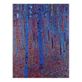 Cartão Postal Floresta da faia por Gustavo Klimt