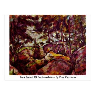 Cartão Postal Floresta da rocha de Fontainebleau por Paul