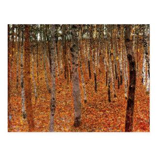 Cartão Postal Floresta de Gustavo Klimt da arte de Fne das