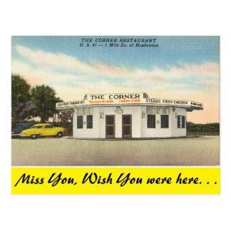 Cartão Postal Florida, Bradenton, o restaurante de canto
