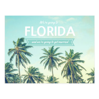 Cartão Postal Florida que Wedding economias tropicais da praia