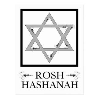 Cartão Postal flourish elegante da estrela de David do hashana