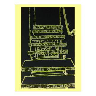 Cartão Postal Flutuação das escadas