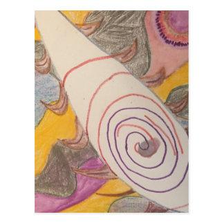 Cartão Postal Flutuação no vácuo do arco-íris