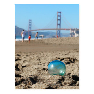 Cartão Postal Flutuador de vidro na praia do padeiro