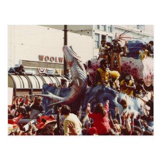 Cartão Postal Flutuador do tribo Zulu do carnaval
