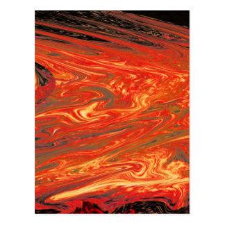 Cartão Postal Fogo vulcânico líquido (1)