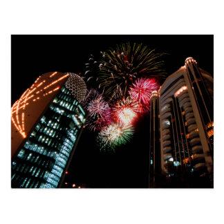 Cartão Postal Fogos-de-artifício de Dubai