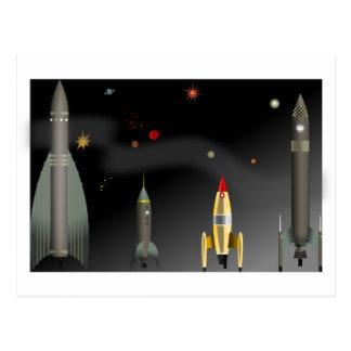 Cartão Postal foguete