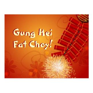 Cartão Postal Foguetes chineses do ano novo