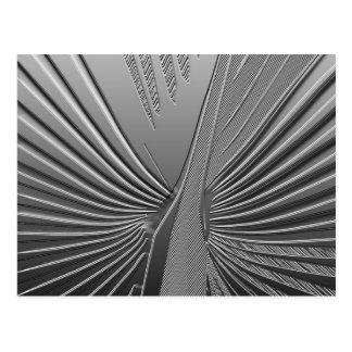 Cartão Postal Folha de palmeira do cromo do art deco