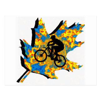 Cartão Postal Folha do Hippie da bicicleta