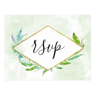 Cartão Postal Folha simples RSVP das hortaliças elegantes